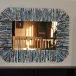 Como hacer un marco para espejos con papel reciclado
