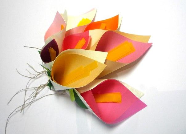 Como hacer un ramo de lirios de papel for Como aser un criadero de mojarras