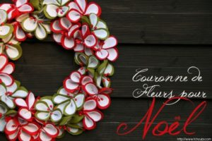 Como hacer una guirnalda con flores de fieltro de navidad (1)