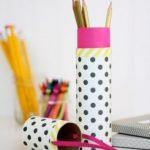 Como hacer una lapicera con tubos de carton reciclado