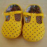 Como hacer zapatos para bebé en tela