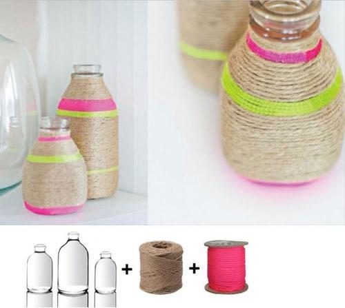 Decoraci n de frascos con cuerdas - Decoracion con cuerdas ...