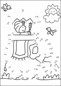Dibujos uniendo puntos para imprimir (2)