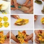 Girasoles de tela para decorar anillos para servilletas