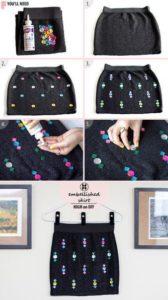 Ideas para decorar una falda con lentejuelas