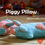 Molde para hacer almohadas con forma de cerditos