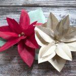 Molde para hacer flores de noche buena para navidad