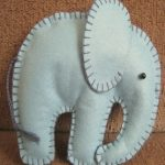 Molde para hacer un elefante de fieltro