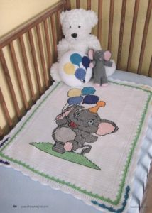 Patron en punto de cruz para decorar sabanas para bebe (1)