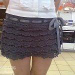 Patron para hacer una falda a crochet para dama