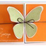 Patron para una tarjeta de felicitacion de mariposa 3D
