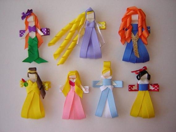 Pinzas sujetadores cabello bebe princesas