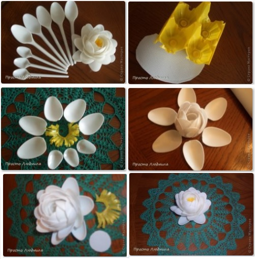 Flores Cucharas Paso A Paso