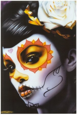 maquillaje de catrina para halloween 2