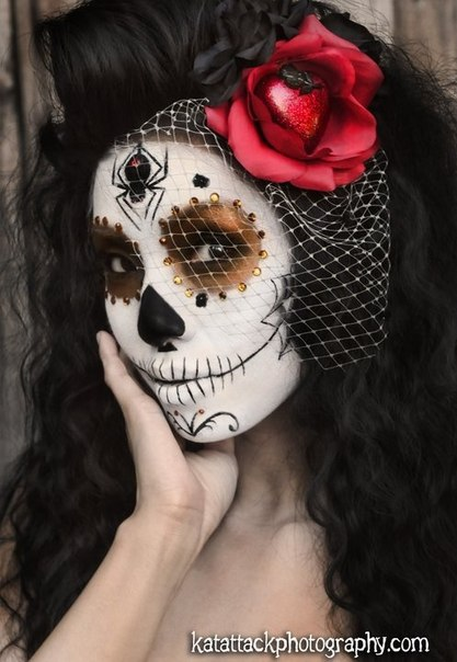 maquillaje de catrina para halloween6