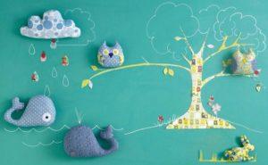 molde para hacer almohada de buho, conejo, nube y ballena