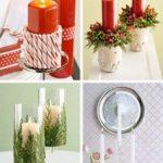 Adorno de navidad con velas