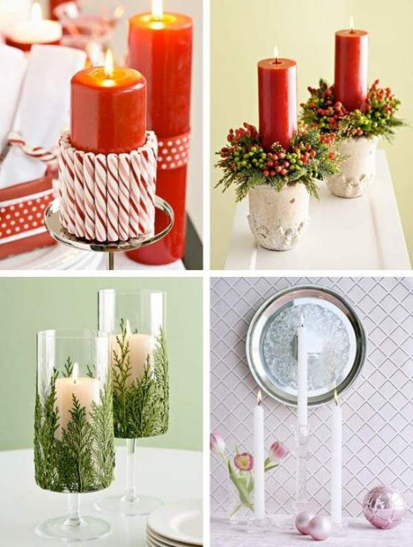 Adorno de navidad con velas - Velas de adorno ...