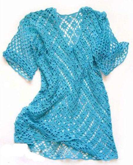 Blusas tejidas a crochet con patrones