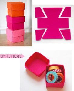 Como hacer una caja para regalo de fieltro paso a paso - Como hacer una caja de madera paso a paso ...