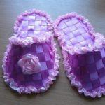 Como hacer zapatos de bebe con listones