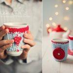 Fundas a crochet para tazas de cafe y te