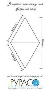 Molde para hacer una estrella de peluche (2)