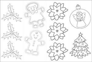 Moldes de navidad para imprimir