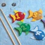 Moldes de peces de fieltro