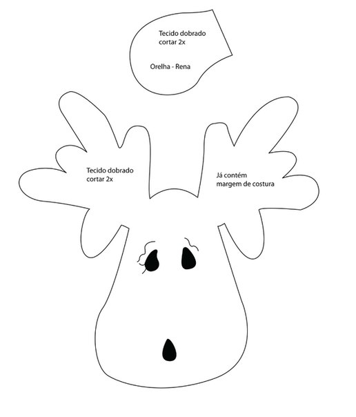 Patron para hacer un reno de fieltro (2)