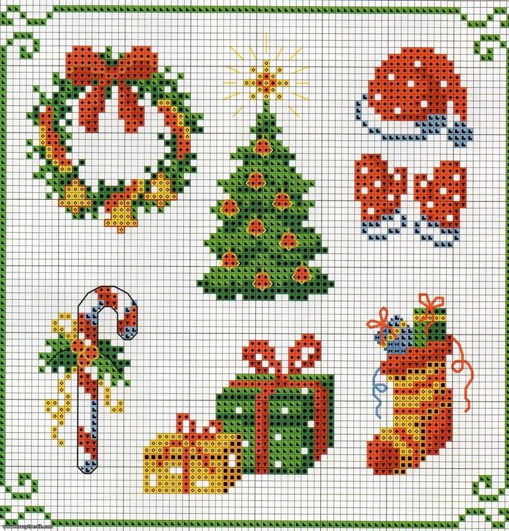 Hermosa Patrones Media De La Navidad De Punto Ideas - Manta de Tejer ...