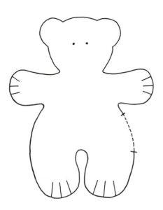 Patrones de osos de fieltro (2)