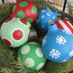 adornos de navidad con papel mache