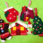 adornos de navidad en fieltro con patrones