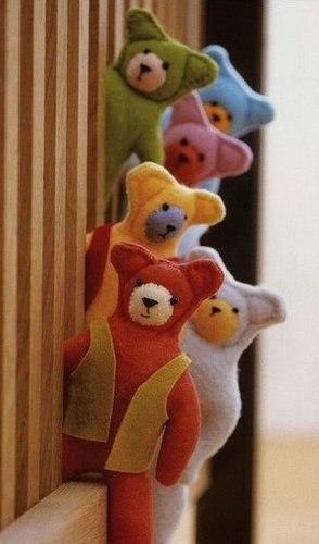 hacer osos de fieltro molde