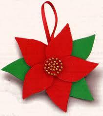 Molde flor de navidad en foami for Escarapelas en foami