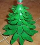 Cómo hacer un árbol con botella de plástico