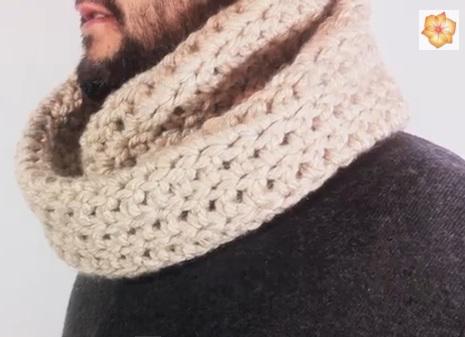 Como hacer una bufanda de lana a ganchillo - Como hacer una bufanda de lana gorda ...