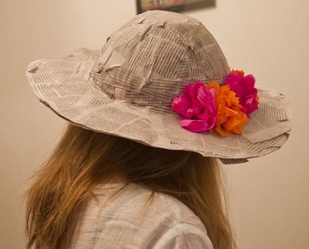 Como hacer un sombrero de papel mache