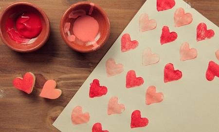 Sellos de corazon romanticos